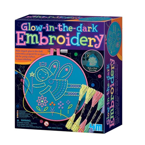 4M Glow-In-The-Dark Embroidery Stitches Kit