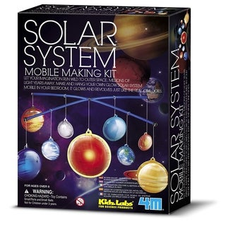 4M KidzLabs Glow-in-the-Dark Solar System Mobile Making Kit