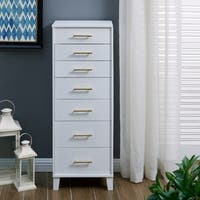 Harper Blvd Hallerin White Freestanding Jewelry Armoire w/ Mirror