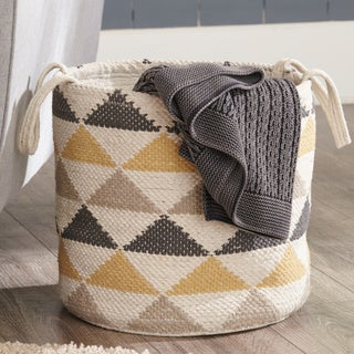 "Eirian Basket - Geometric Design - 14""W x 14""D x 14""H"