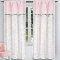 Lala Bash Bonnie Bow Room Darkening Curtain Panel Pair - 37x84""
