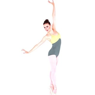 Body Wrappers Womens Premiere Collection Two-Tone Halter Leotard (P333)