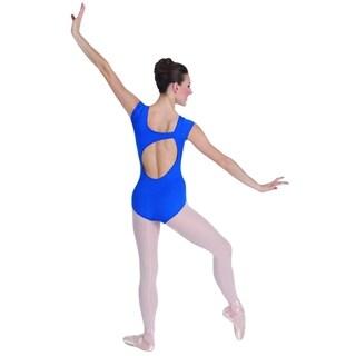 Body Wrappers Womens CAPSLV LEOTARD P346 -AQUAMARINE L (P346)