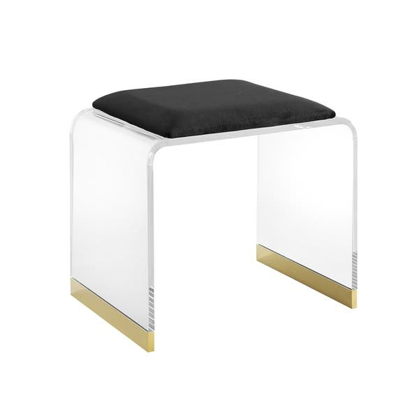 Superb Shop Mableton Upholstered Acrylic Vanity Stool On Sale Pabps2019 Chair Design Images Pabps2019Com