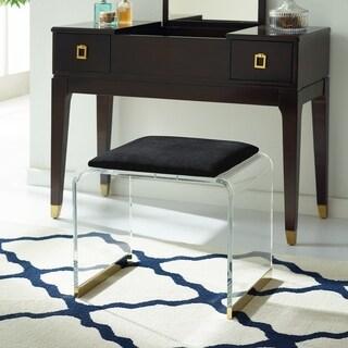 Mableton Upholstered Acrylic Vanity Stool