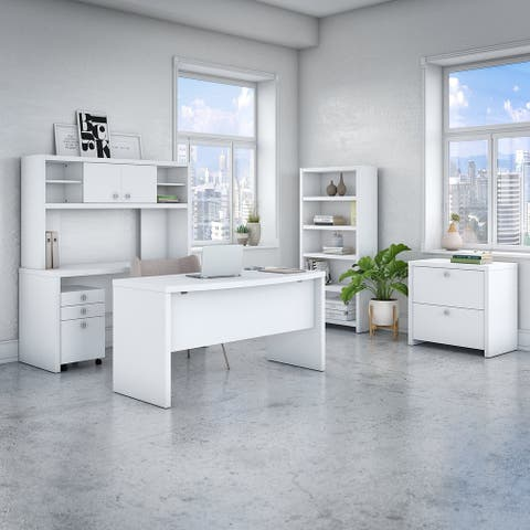 Echo 6 Piece Office Suite in Pure White from Office by kathy ireland®