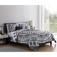 VCNY Home Kaci Black & White Medallion Comforter Set