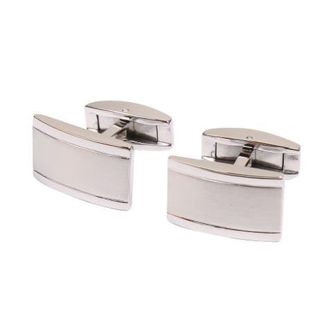 Men's Stainless Steel Cufflinks in a Rectangular Shape/Design