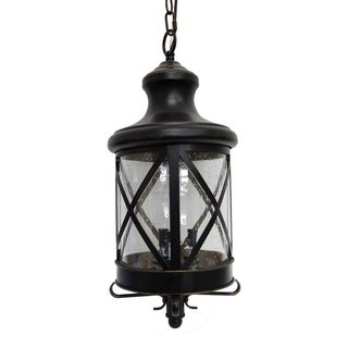 3 Light Exterior Hanging Light in Oil Rubbed Bronze