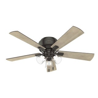 "Hunter Fan 52"" Crestfield Noble Bronze w/ 5 Gry Pine / Gry Wlnt Rev Blds"
