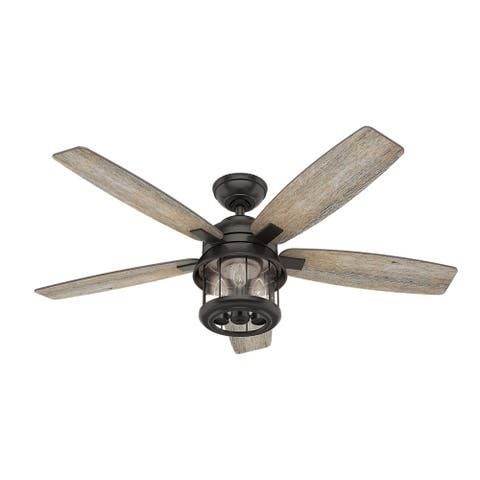 Buy bronze finish ceiling fans online at overstock our best hunter fan 52 inch coral bay noble bronze ceiling fan with barnwoodoak blades aloadofball Images