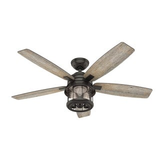 "Hunter Fan 52"" Coral Bay Noble Bronze w / 5 Barnwood / Oak Rev Blds"