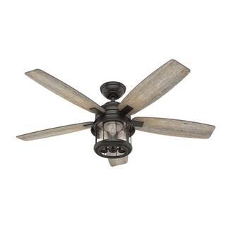 """Hunter Fan 52"""" Coral Bay Noble Bronze w / 5 Barnwood / Oak Rev Blds"""