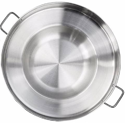 Large 22 Inch Round Stainless Steel Comal Wok Griddle Multi Cooker