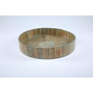 Kenchuto Antique Rustic Teak Wood Tray