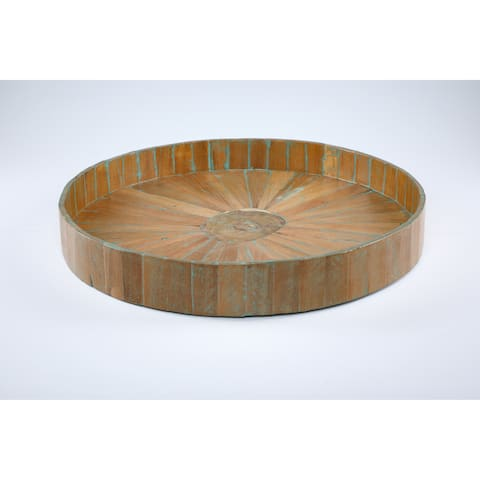 Kenchuto Antique Rustic Teak Wood Tray