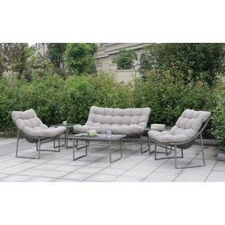 Furniture of America Anya Contemporary Outdoor Weather Resistant Patio Set