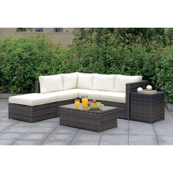 Delicieux Furniture Of America Villa VI Modular All Weather Wicker Patio Set