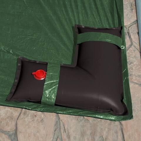 Robelle 2 ft. x 2 ft. Black Corner Tubes for In-Ground Winter Pool Covers 4-Pack