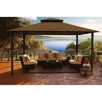 Catalina 11-foot x 14-foot Fabric/Aluminium Backyard Gazebo with Cocoa Canopy