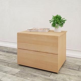 Nexera Nordik 2 Drawer Nightstand, Natural Maple