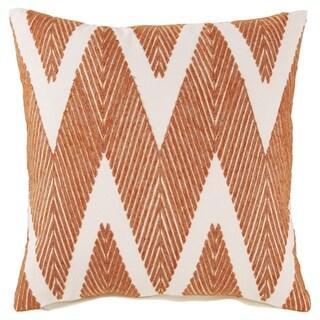 Carlina Orange Chevron Throw Pillow