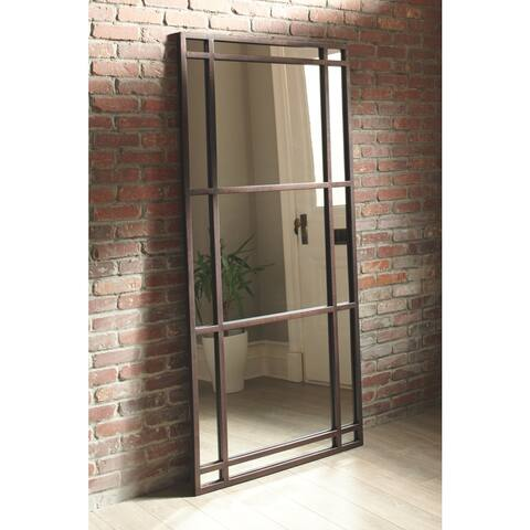 Eddard Leaning Accent Mirror - Antique Brown - Antique Brown - Antique Brown