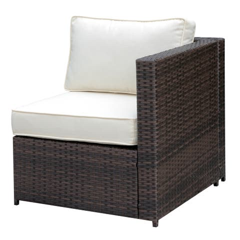Furniture of America Fene Contemporary Brown Wicker Armchair