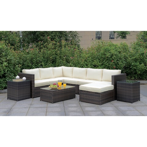 Furniture of America Mene Contemporary Brown Patio Set