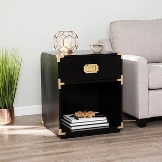 Harper Blvd Campaign Tall Storage Side Table w/ Drawer