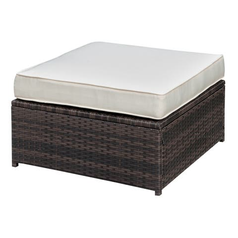 Furniture of America Villa Modular Outdoor Weather Resistant Ottoman