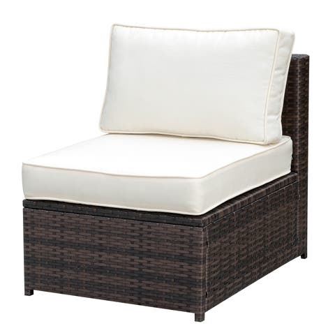 Furniture of America Villa Modular Outdoor Weather Resistant Armless Chair