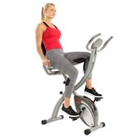Sunny Health & Fitness Folding Magnetic Semi Recumbent Upright Bike, Comfort XL with High Weight Capacity/Pulse Rate Monitoring