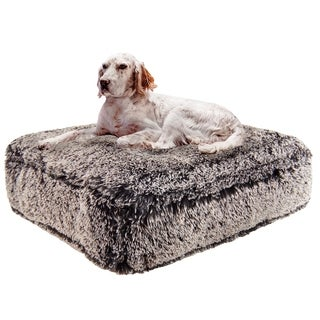 Bessie & Barnie Frosted Willow Ultra Plush Faux Fur Luxury Shag Durable Sicilian Rectangle Pet/Dog Bed