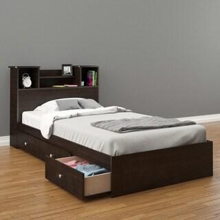 Nexera Pocono Storage Bed with Headboard, Espresso