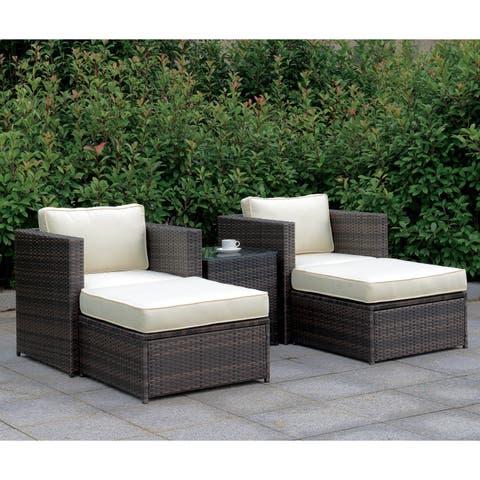 Furniture of America Villa XII Weather Resistant Wicker Patio Set