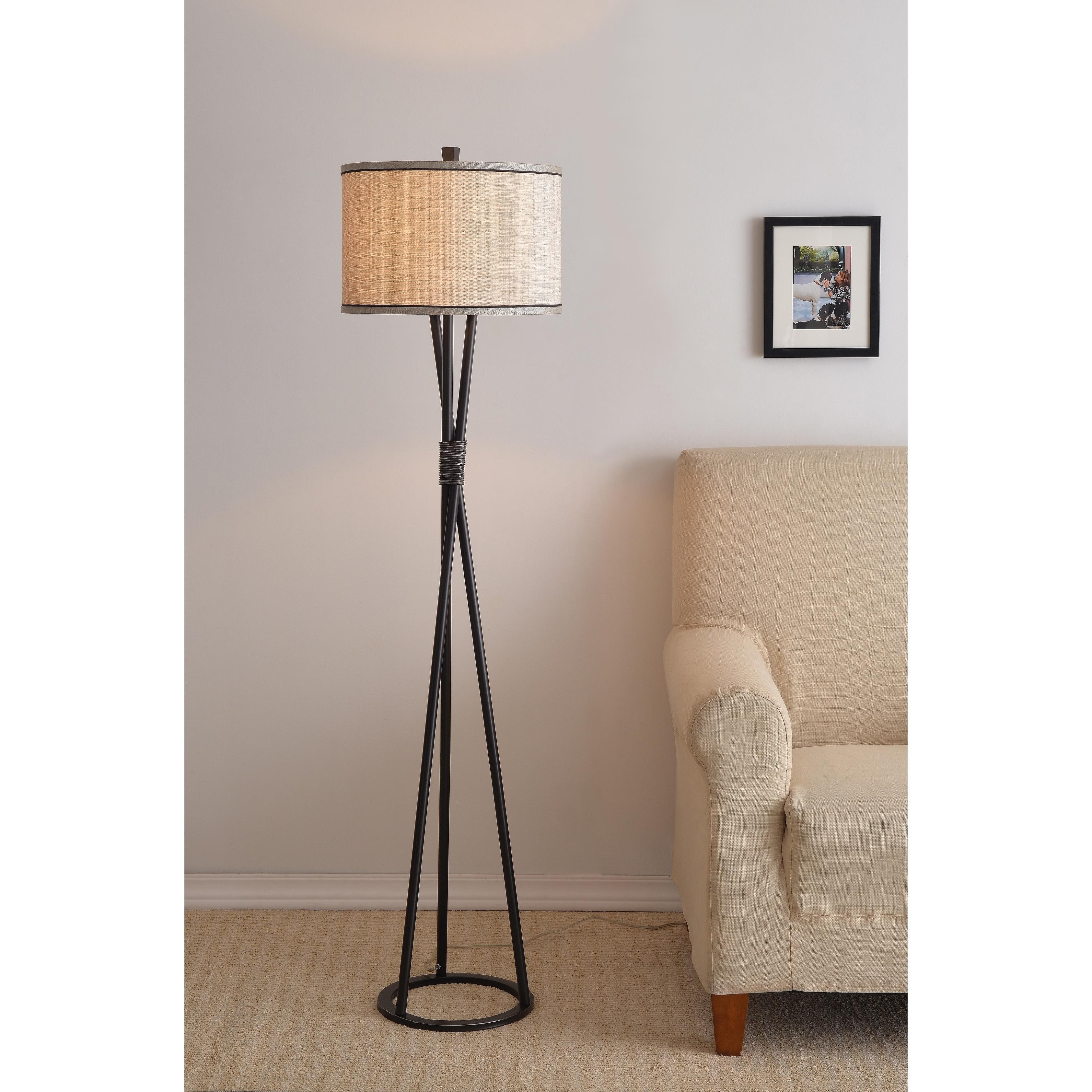 Strick Bolton Wesley 60 Inch Black Tripod Floor Lamp Overstock 22833487