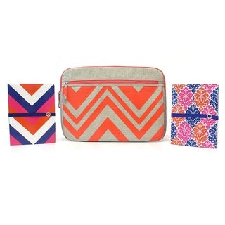 Studio C 3pc Chevron&On Laptop Sleeve/Prepped for Anything Ideal Books