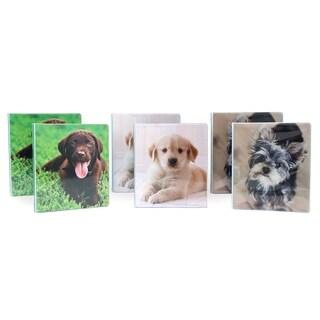 "Studio C Puppy Paws 6pc 1"" Vinyl 3-Ring Binder Set"