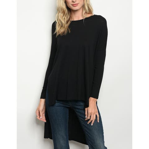 JED Women's Soft Jersey High Low Tunic Top