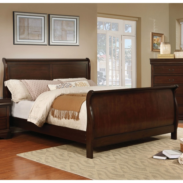 Shop Furniture Of America Anna Transitional Sleigh Bed
