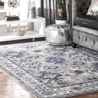 nuLOOM Traditional Southwestern Versaille Aztec Ombre Frame Area Rug