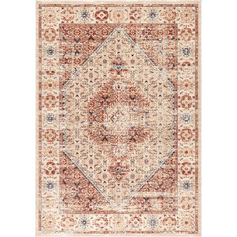 nuLOOM Traditional Classical Lavish Versaille Blooming Ombre Faded Frame Area Rug
