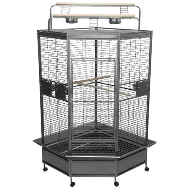 Shop Black Wrought Iron 32 Inch Large Corner Bird Cage As