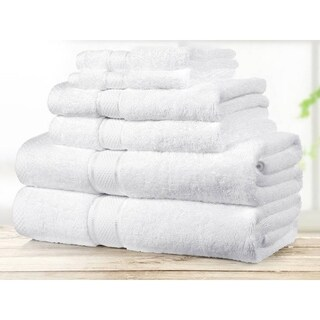 Chama Egyptian Cotton Super Soft Luxury White Towel Set (6 Pieces)