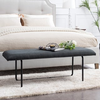Holly & Martin Beacoup Dark Gray Upholstered Bench