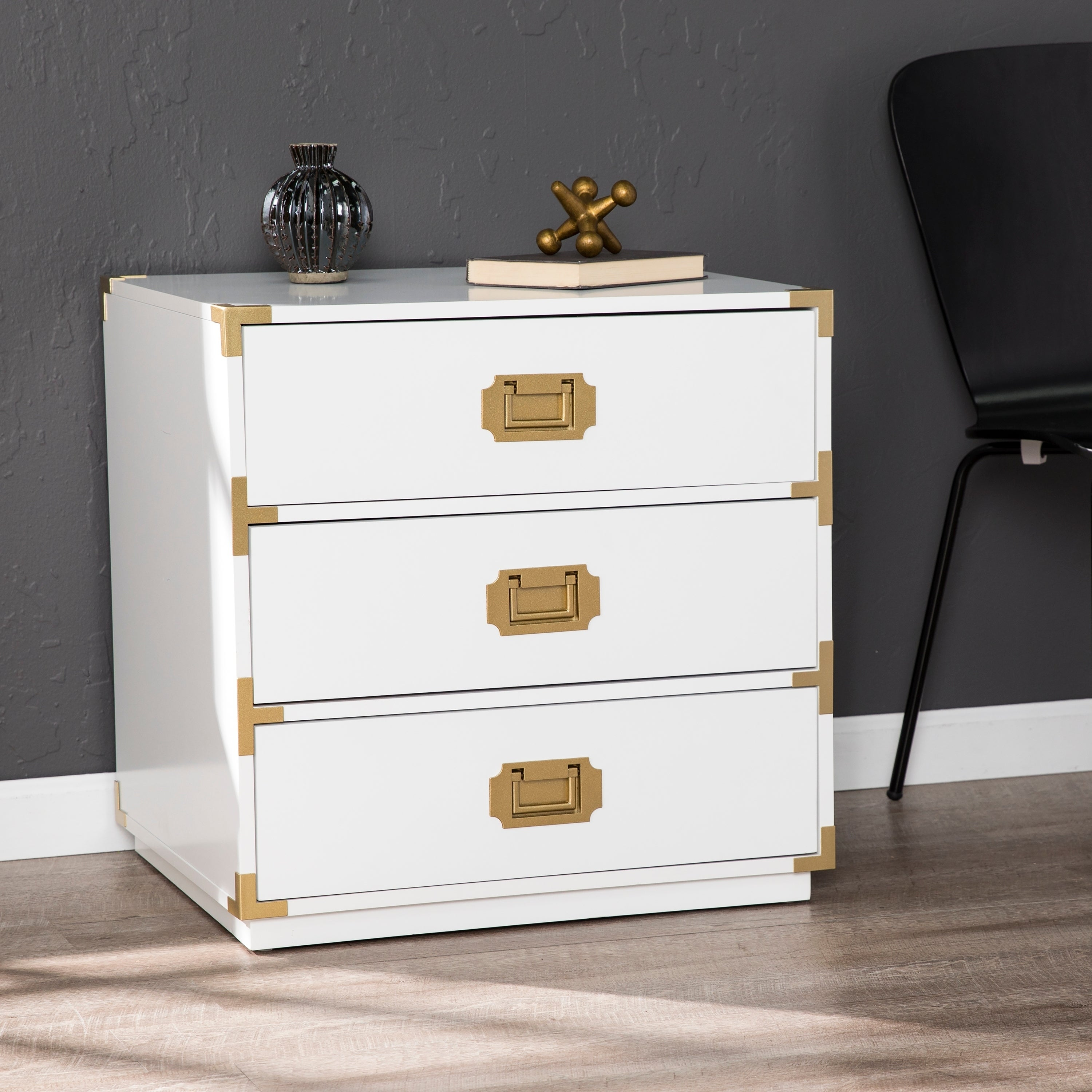 Campaign Brass 20 Drawer Accent Chest   Overstock   20
