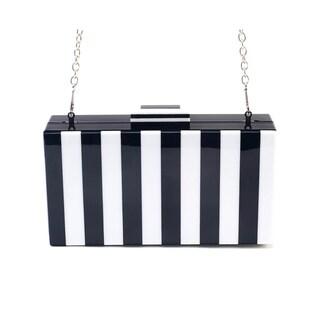 Like Dreams Pippa Zebra Striped Box Clutch
