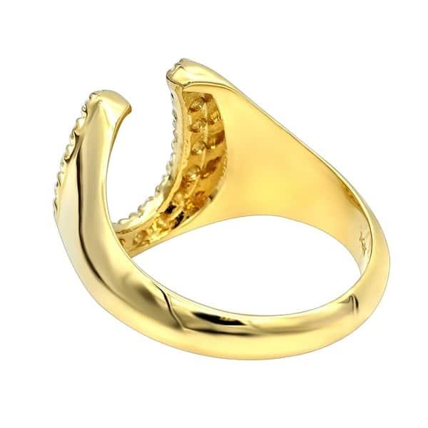 094e9b39bb1aa Shop Diamond Horseshoe Ring for Men in 14k Gold 0.5ctw by Luxurman ...