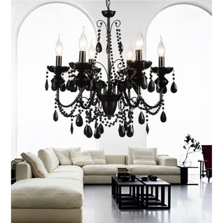The Curated Nomad Boruss 6-light Black Crystal Chandelier